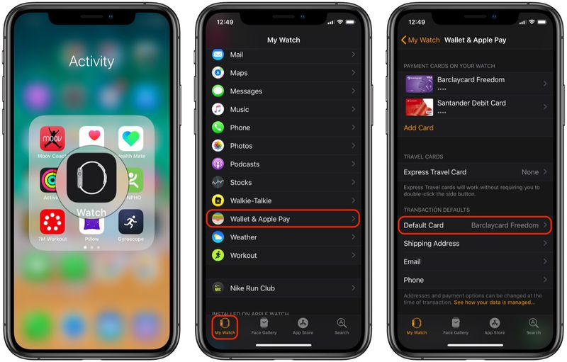 如何更改 Apple Watch 上 Apple Apy 的默认卡片?